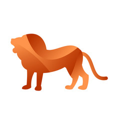 Wild lion animal jungle pet logo silhouette of vector