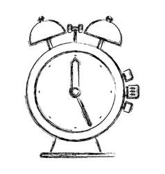 Monochrome blurred silhouette of antique alarm vector