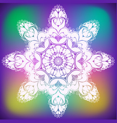 abstract curl flower snowflake vector image