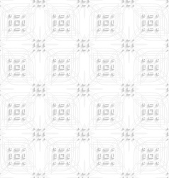 White rectangle groups on gray ornament seamless vector