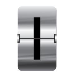 Alphabet silver flipboard letters i vector image