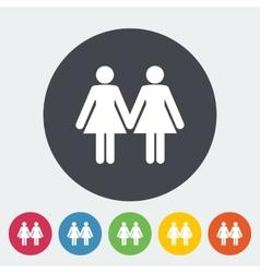 Lesbian sign vector