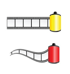 Film tape color vector