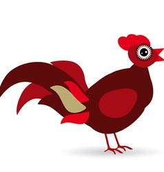 Cartoon of a rooster on a white background vector