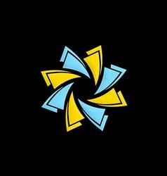 Circle technology abstract logo vector