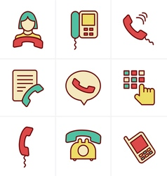 Icons style phone icons vector