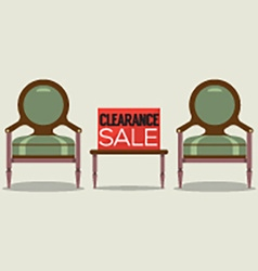 Clearance sale vintage chairs vector