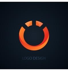 logo letter o vector image