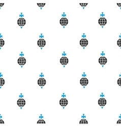 Global Guard Sword Flat Seamless Pattern vector image