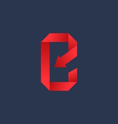 Letter e mobile phone app logo icon design vector