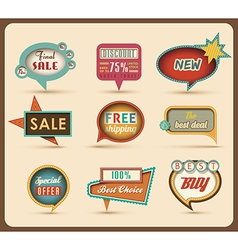 Retro speech bubbles vector