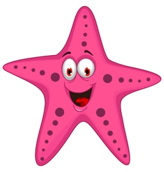cute starfish cartoon vector image