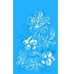 abstract flowers buttercups vector image vector image