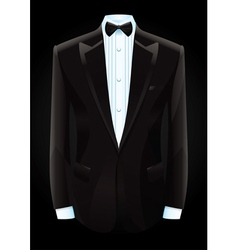 black tuxedo and bow tie vector image
