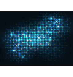 Blue shiny mosaic background vector image vector image