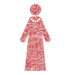 Bride fabric textured icon vector