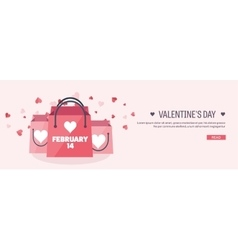 Flat background with shopping vector image vector image