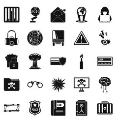 Genius icons set simple style vector