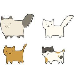 Group of cats breeds vector
