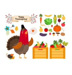 Harvest clip art fruits vegetables for vector image vector image