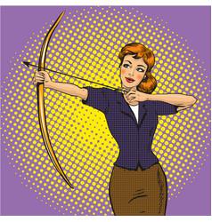 lady archer retro pop art vector image vector image