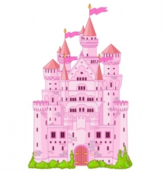 Magic princess castle vector