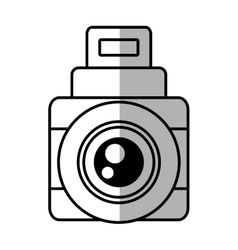 Photo camera picture vacation travel line shadow vector