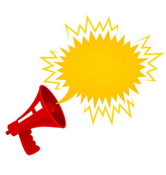 red retro megaphone vector image