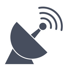 Satellite dish icon vector