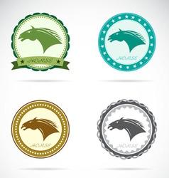 Set of horse label vector