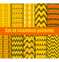 Set seamless pattern with geometric shapes vector image