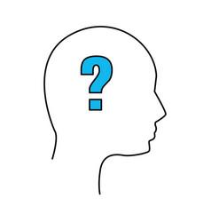 Silhouette human man question vector