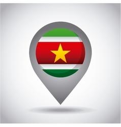 Surinam flag pin vector