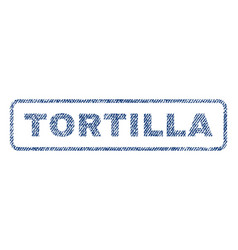 Tortilla textile stamp vector