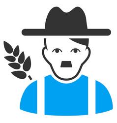 Wheat farmer flat icon vector