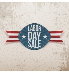 Labor day sale realistic festive tag vector