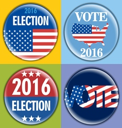 Election 2016 badge set with unites states of amer vector