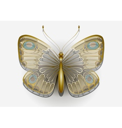 Delicate butterfly on a white background vector image
