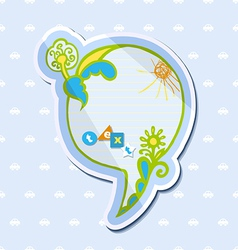 Speech bubble childrens drawings vector