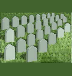 grave yard vector image