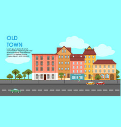 flat colorful cityscape poster vector image