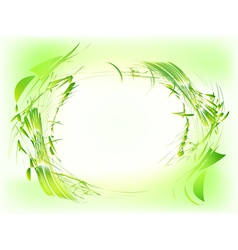 Abstract green grunge frame vector