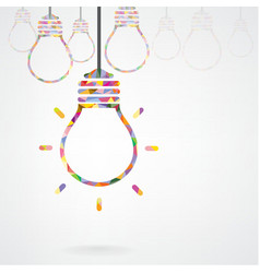 Creative light bulb idea concept background design vector