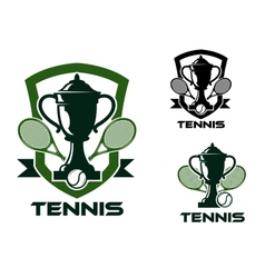 Tennis tournament badges and logo vector