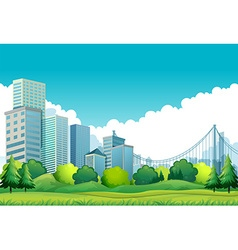 City view vector