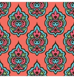 Cute seamless floral damask pattern vector