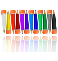 pencils object vector image