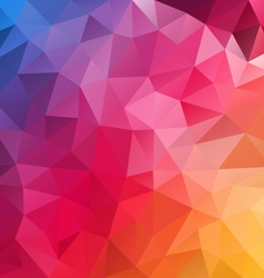 Blue pink yellow spectrum polygon triangular vector
