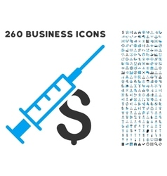 Narcotic business icon with flat set vector