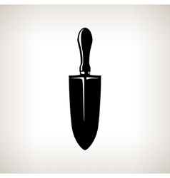 Garden equipment a gardening trowel vector